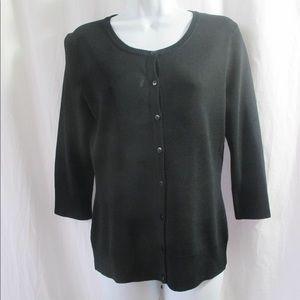 Spense Black Cardigan Sweater Sz Mediun